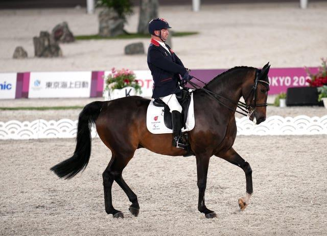 Great Britain's Lee Pearson won three golds on homebred horse Breezer