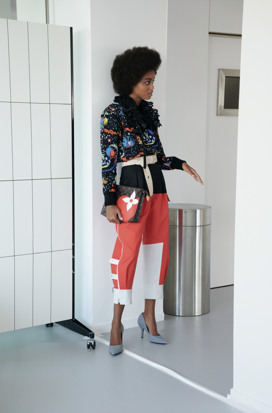 """<p>Louis Vuitton's cruise 2021 collection, titled """"Game On,"""" was shot at Creative Director Nicolas Ghesquière's studio in Paris. The looks were derived from the designer's visions of his past, present, and future. """"Game On is a lighthearted adventure in which all of<br>the House's spheres of expertise play a role, driven by passionate<br>craftsmanship, their winning card,"""" said the fashion house in a statement.<br></p>"""