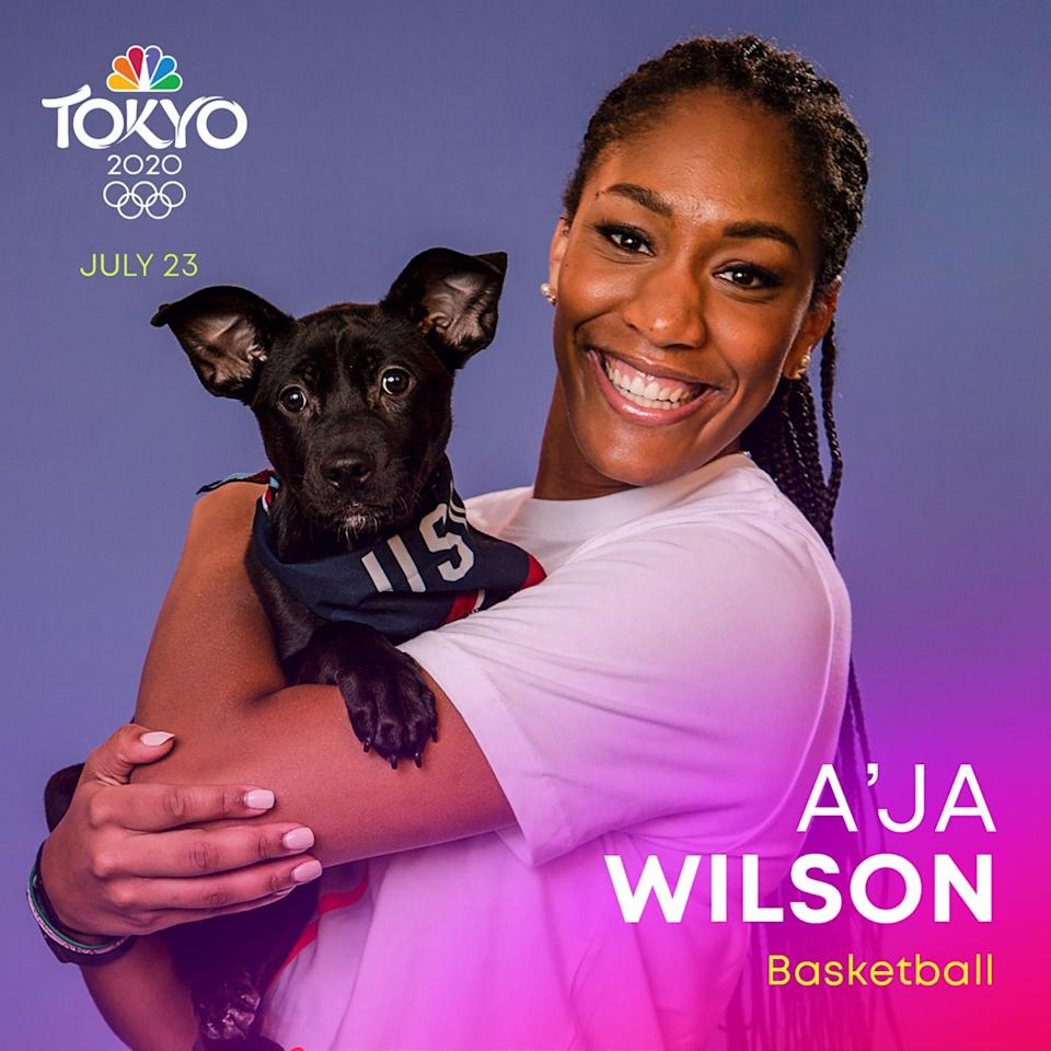 <p><span>Wilson</span> is a power forward on the WNBA's Las Vegas Aces and is part of the USA Basketball Women's National Team, which won the most recent FIBA Women's Basketball World Cup in 2018. </p>