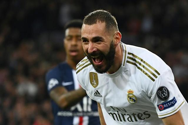 Benzema has scored 14 goals this season (AFP Photo/GABRIEL BOUYS )