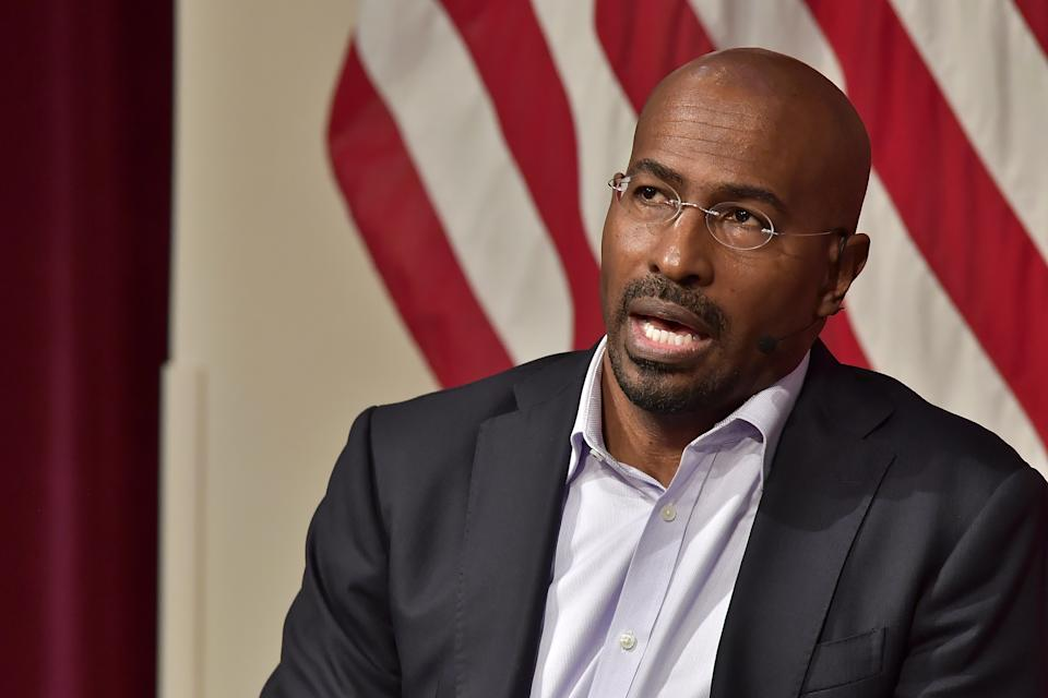 CNN analyst Van Jones broke down in tears on camera Saturday, after hearing news that Joe Biden had defeated President Donald Trump in the election, as projected by the Associated Press. (Photo: Paul Marotta/Getty Images)