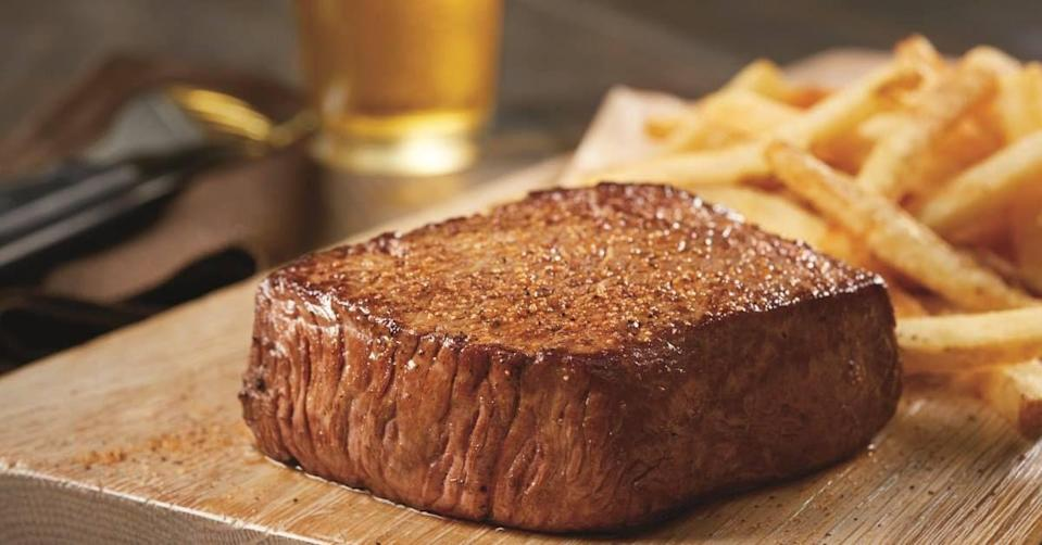 """<p>Who would have thought that anything at Outback could be more popular than the Bloomin' Onion? As it turns out, though, this steakhouse actually does do its genre proud—it makes a mean steak. While <a href=""""https://www.delish.com/food-news/a47700/facts-about-outback-steakhouse/"""" rel=""""nofollow noopener"""" target=""""_blank"""" data-ylk=""""slk:there are plenty of steak variations"""" class=""""link rapid-noclick-resp"""">there are plenty of steak variations</a> to choose from, the Center-Cut Sirloin is the Outback fan's go-to. It's a leaner cut, and a carefully concocted seasoning blend just highlights its flavor.</p>"""