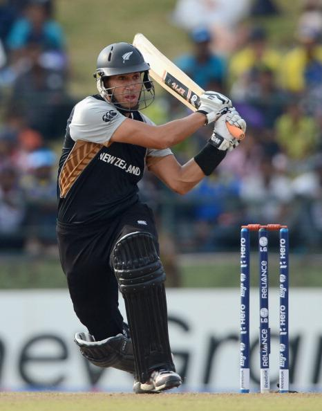 KANDY, SRI LANKA - SEPTEMBER 29:  Ross Taylor of New Zealand bats during the  ICC World Twenty20 2012 Super Eights Group 1 match between England and New Zealand at Pallekele Cricket Stadium on September 29, 2012 in Kandy, Sri Lanka.  (Photo by Gareth Copley/Getty Images,)