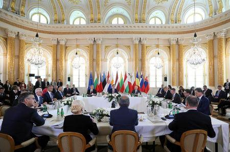 Participants attend a working session during Together for Europe - High Level Summit for European Union members that joined the bloc in last 15 years at Royal Castle in Warsaw, Poland, May 1, 2019. Agencja Gazeta/Slawomir Kaminski/via REUTERS
