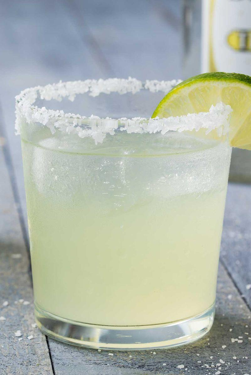"<p>Classic. </p><p>Get the <a href=""https://www.delish.com/uk/cocktails-drinks/a30893337/best-classic-margarita-recipe/"" rel=""nofollow noopener"" target=""_blank"" data-ylk=""slk:Classic Margaritas"" class=""link rapid-noclick-resp"">Classic Margaritas</a> recipe.</p>"