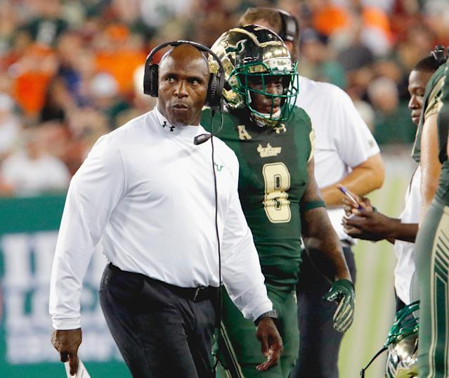 Charlie Strong's South Florida Bulls are one of seven AAC teams that have actually played three games this year. (Getty)