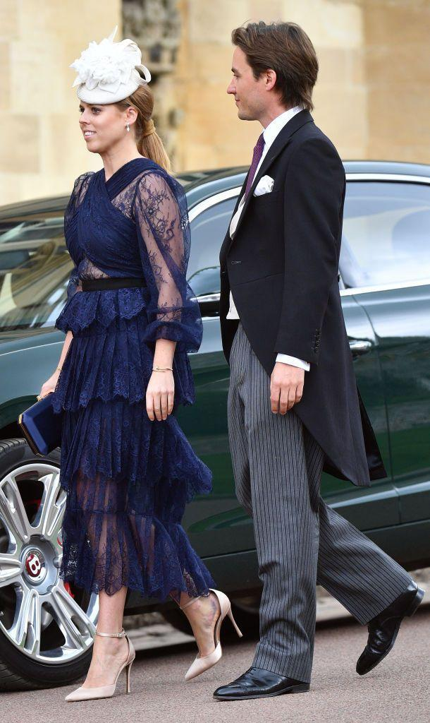<p>Edo looked lovingly at then-girlfriend Beatrice at the wedding. This came right after Edo accompanied Beatrice and her family on a trip during the Bahrain Grand Prix.</p>