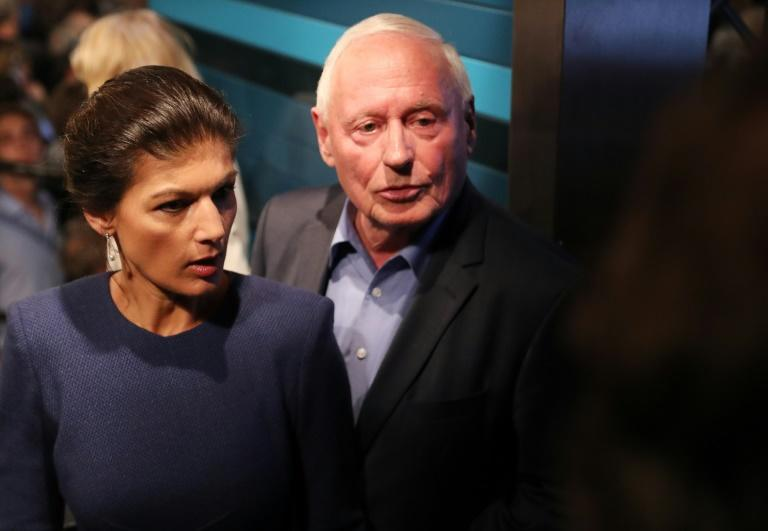 "Germany's political power couple Sahra Wagenknecht (L) and her husband Oskar Lafontaine are launching a new leftist cross-party movement called ""Stand up"", modelled on the populist campaigns of US Senator Bernie Sanders and Britain's Labour leader Jeremy Corbyn"