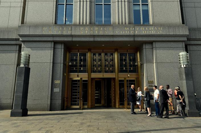 The US Federal Courthouse in New York, seen August 1, 2014 (AFP Photo/Stan Honda)