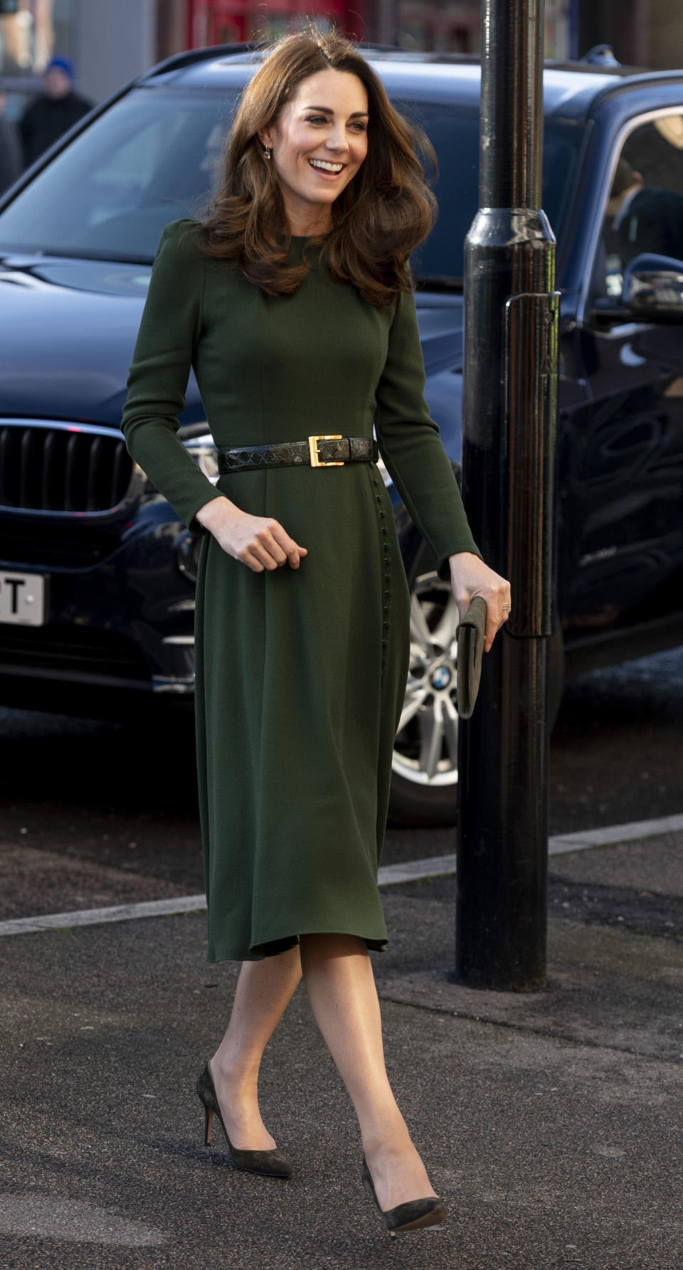 Kate wore a dress by Beulah London for the visit [Photo: Getty]