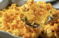 """<p>This casserole takes <a href=""""https://www.thedailymeal.com/easy-dishes-one-hour?referrer=yahoo&category=beauty_food&include_utm=1&utm_medium=referral&utm_source=yahoo&utm_campaign=feed"""" rel=""""nofollow noopener"""" target=""""_blank"""" data-ylk=""""slk:less than one hour"""" class=""""link rapid-noclick-resp"""">less than one hour</a> to make, but you can also make it the night before and bake it in the morning. The golden-brown crust over a combination of cheese, sausage and eggs is delightful. </p> <p><a href=""""https://www.thedailymeal.com/best-recipes/country-breakfast-casserole?referrer=yahoo&category=beauty_food&include_utm=1&utm_medium=referral&utm_source=yahoo&utm_campaign=feed"""" rel=""""nofollow noopener"""" target=""""_blank"""" data-ylk=""""slk:For the Country Breakfast Casserole recipe, click here."""" class=""""link rapid-noclick-resp"""">For the Country Breakfast Casserole recipe, click here.</a></p>"""