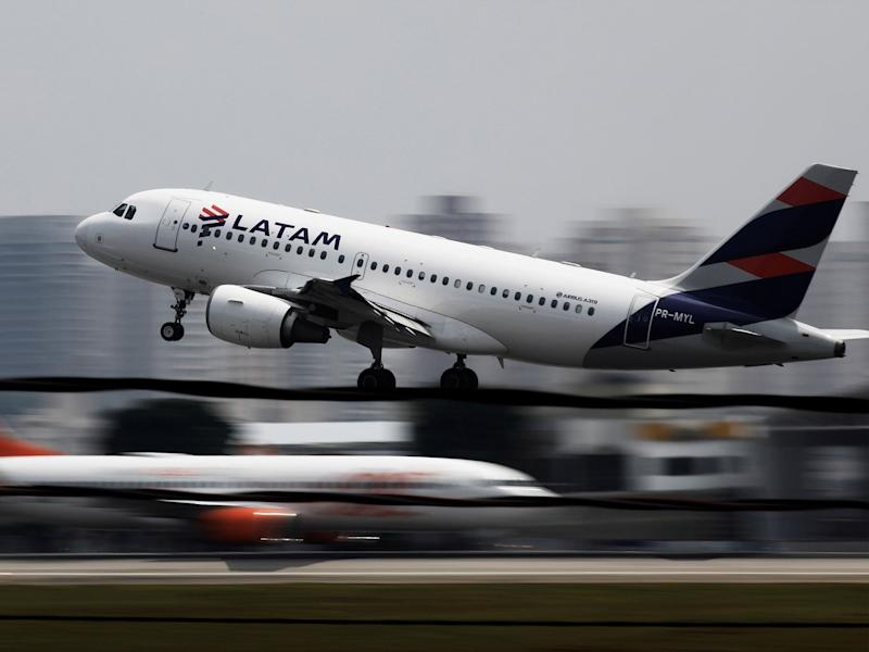 A Latam Airlines A319 takes off from Congonhas airport in Sao Paulo, Brazil: Reuters