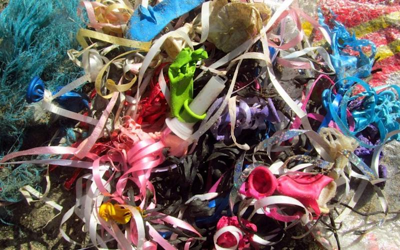 Hundreds of sky lanterns and balloons have been found strewn around the coast of Anglesey - Friends of the Isle of Anglesey Coastal Path (FAOCP)
