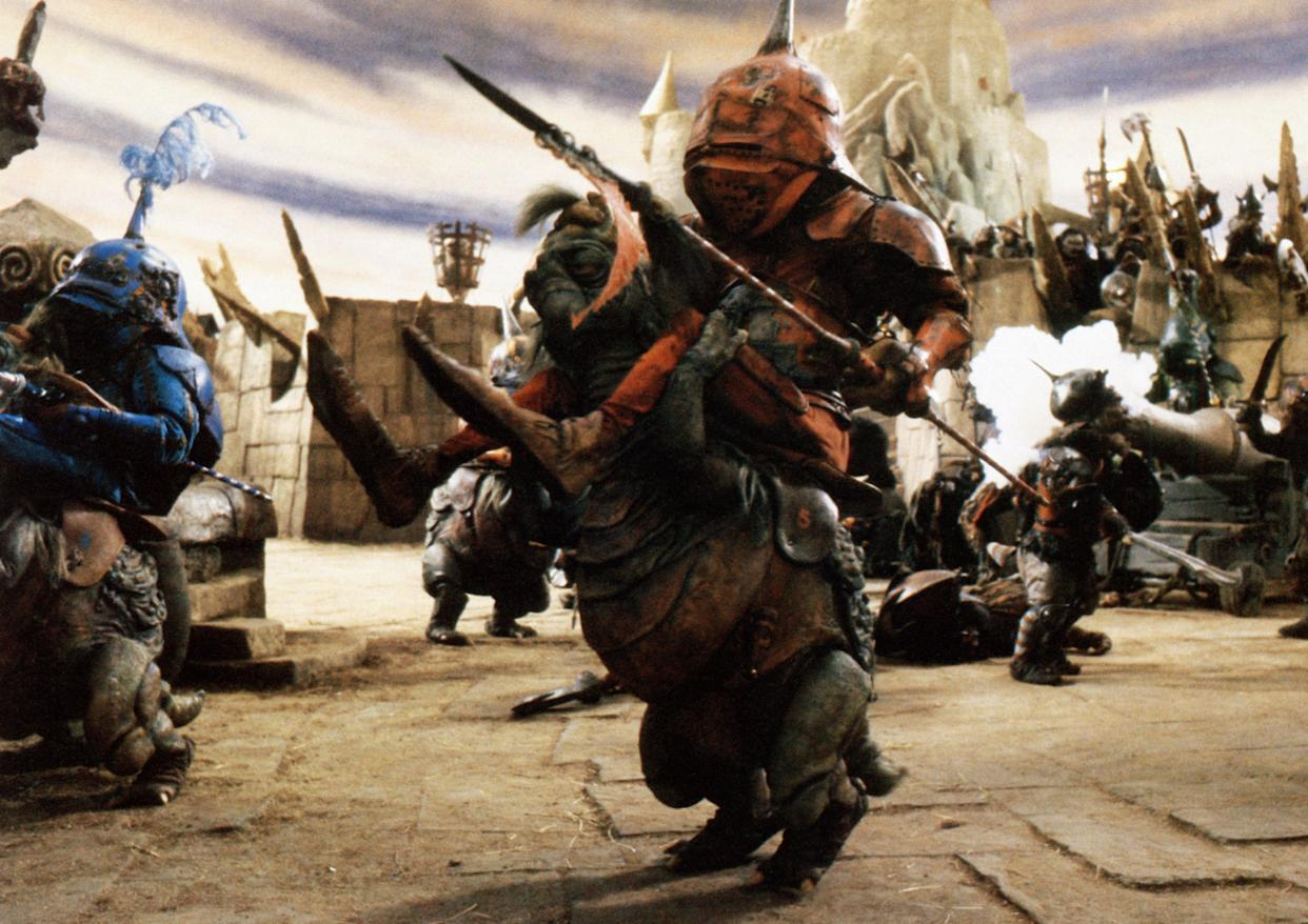 The Goblin Knights ride in a scene from Jim Henson's Labyrinth (Photo: TriStar Pictures/courtesy Everett Collection)