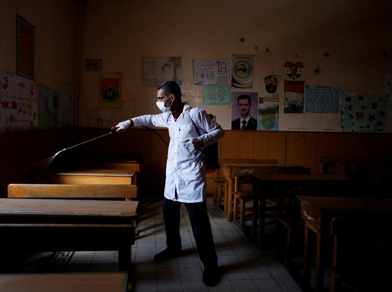 War-ravaged Syria takes new steps against coronavirus, says no recorded cases yet