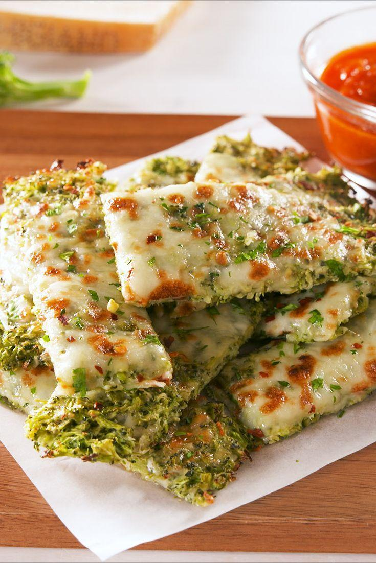 """<p>What makes this """"bread"""" so healthy? It's literally made from broccoli and is entirely carb-free. </p><p>Get the recipe from <a href=""""https://www.delish.com/cooking/recipe-ideas/a20720559/best-broccoli-cheesy-bread-recipe/"""" rel=""""nofollow noopener"""" target=""""_blank"""" data-ylk=""""slk:Delish"""" class=""""link rapid-noclick-resp"""">Delish</a>.</p>"""