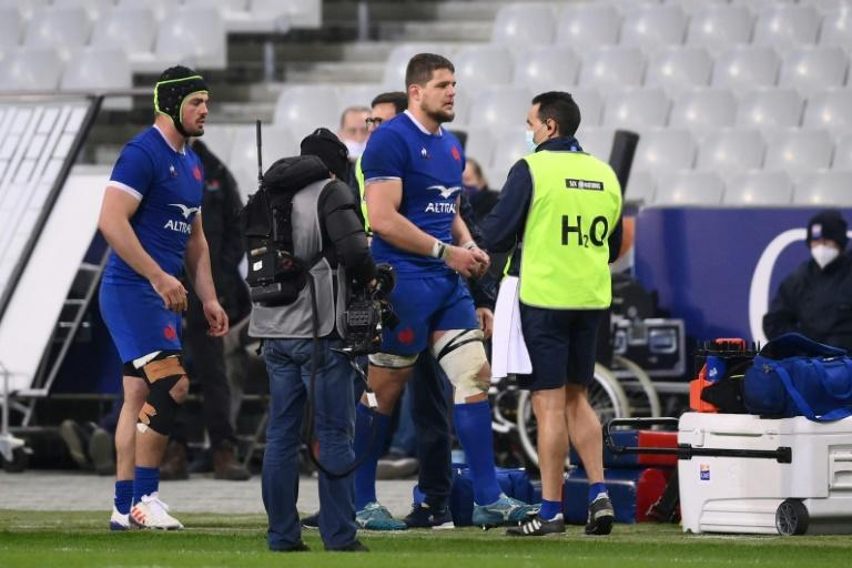 Paul Willemse (C) received just the second red card of his career in the win over Wales