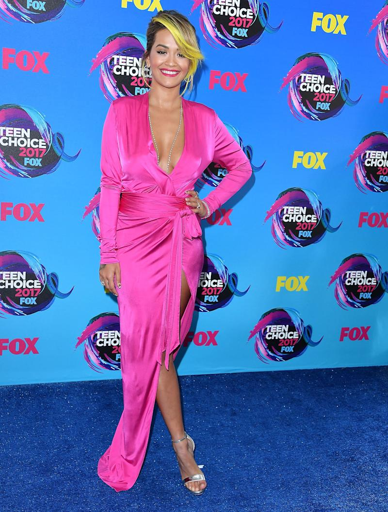 Rita Ora at the Teen Choice Awards in Los Angeles on Aug. 13, 2017.