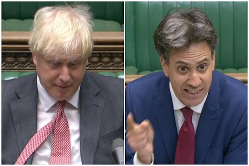 Boris Johnson was accused by Ed Miliband of 'undoing Brexit'. (Parliamentlive.tv)