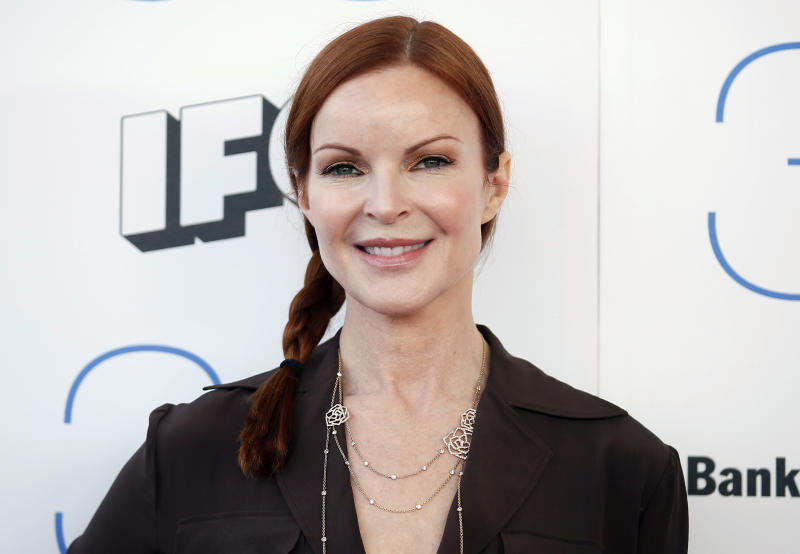 Actress Marcia Cross arrives at the 2015 Film Independent Spirit Awards in Santa Monica, California February 21, 2015. REUTERS/Danny Moloshok (UNITED STATES - Tags: ENTERTAINMENT) (SPIRITAWARDS-ARRIVALS)