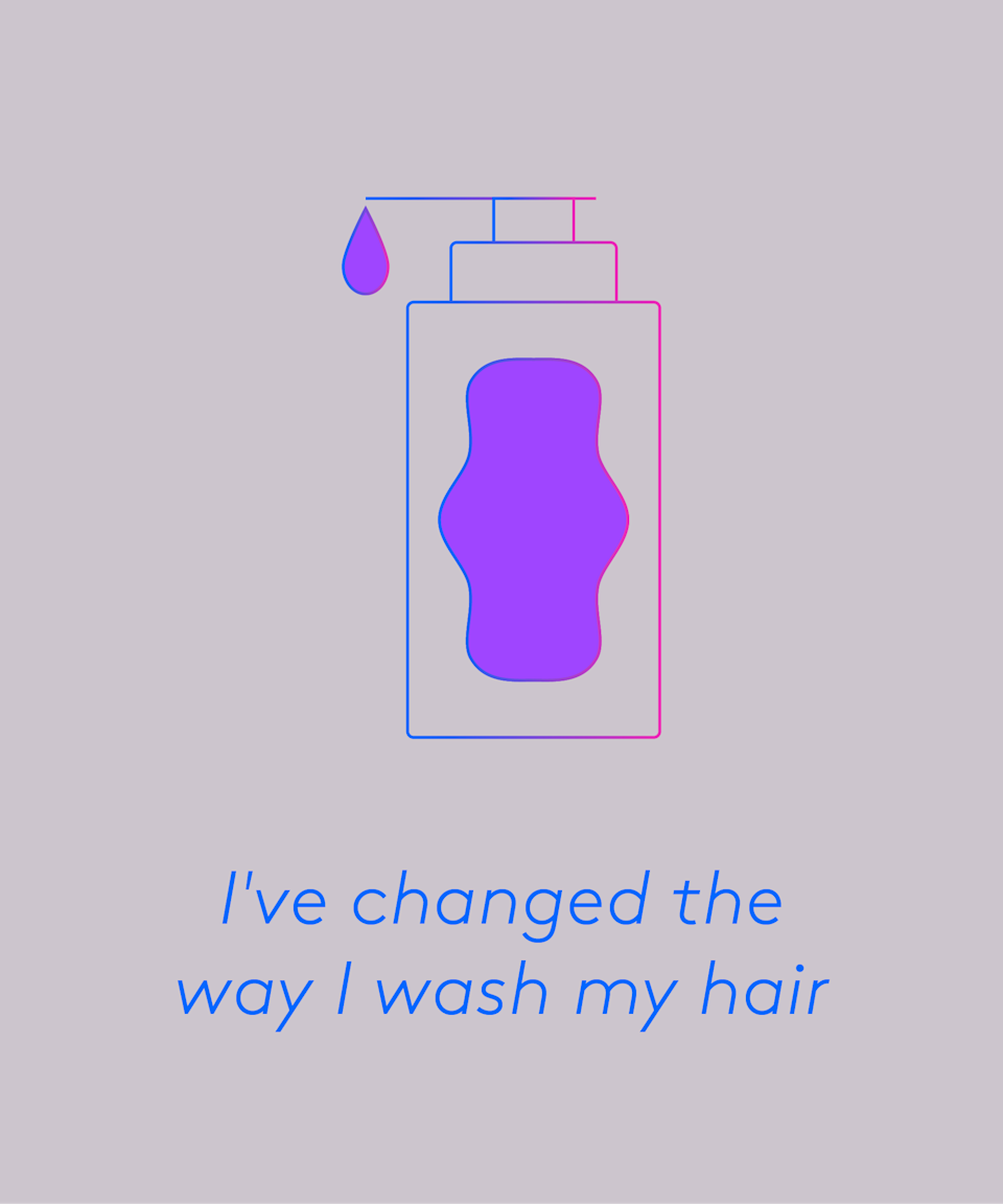 """Yes, my hair. <a href=""""https://www.refinery29.com/en-gb/best-hair-oil"""" rel=""""nofollow noopener"""" target=""""_blank"""" data-ylk=""""slk:Thick oils"""" class=""""link rapid-noclick-resp"""">Thick oils</a> and <a href=""""https://www.refinery29.com/en-gb/2014/11/135896/hair-masks"""" rel=""""nofollow noopener"""" target=""""_blank"""" data-ylk=""""slk:nourishing masks"""" class=""""link rapid-noclick-resp"""">nourishing masks</a> and <a href=""""https://www.refinery29.com/en-gb/best-conditioner-for-dry-hair"""" rel=""""nofollow noopener"""" target=""""_blank"""" data-ylk=""""slk:conditioners"""" class=""""link rapid-noclick-resp"""">conditioners</a> can transform dull, dry hair, but it might be a good idea to keep them away from your face and hairline. """"Heavy conditioners can trap bacteria and block pores and this is why they are a culprit for forehead acne,"""" Dr Mahto recently told <a href=""""https://www.refinery29.com/en-gb/how-to-wash-your-face"""" rel=""""nofollow noopener"""" target=""""_blank"""" data-ylk=""""slk:R29"""" class=""""link rapid-noclick-resp"""">R29</a>. """"Conditioner is designed to hydrate older, more brittle hair and it often contains quite heavy ingredients such as petrolatum, jojoba oil, shea butter or other oil-based products."""" <br><br>The solution? Concentrate thick hair products to your mid-lengths to ends, and if you're using conditioner in the shower, wash your face last to remove any residue."""