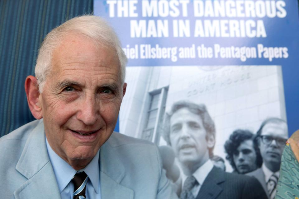 <p> FILE - In this Sept. 23, 2009, file photo, Daniel Ellsberg speaks during an interview in Los Angeles. Disclosure of secret National Security Agency surveillance programs isn't the first time the government has been caught spying on Americans or that classified government information has been leaked. The Vietnam War and civil-rights protest movements of the 1960s and 1970s generated plenty of surveillance and secrecy. And leaks. Former Pentagon analyst Daniel Ellsberg was indicted for leaking classified government information about the Vietnam War in 1971 to The New York Times and other newspapers. (AP Photo/Nick Ut)</p>