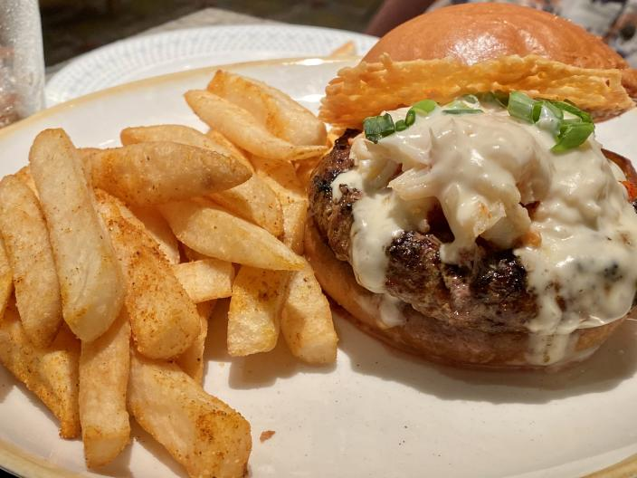 My husband called this Lobster Thermidor burger the