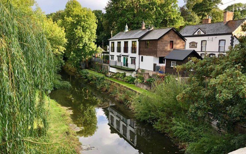 Quaint: the Montgomeryshire canal and River Rhiew flow through this picturesque village - National Garden Scheme