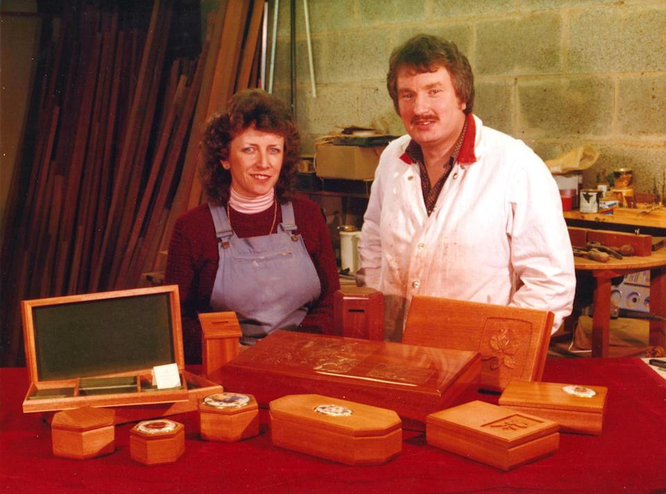 The couple ran a cabinet-making business together for 30 years. (Photo: Caters)