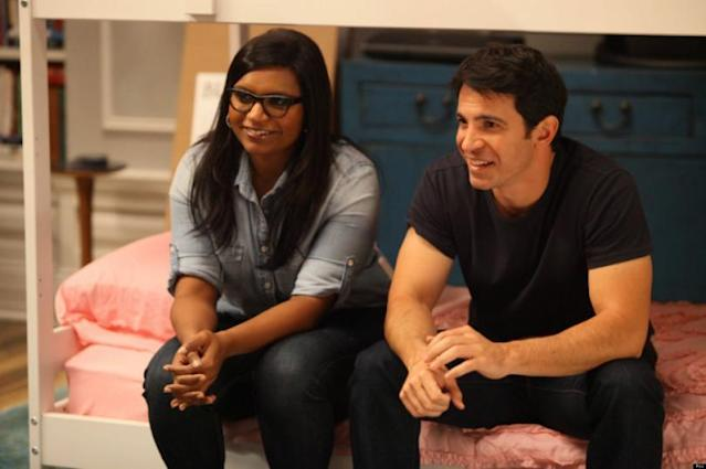 "Mindy Kaling and Chris Messina on ""The Mindy Project."" (Photo: Hulu)"