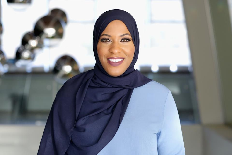 Ibtihaj Muhammad continues to speak out for Black women and racial equality. (Photo by Alison Buck/Getty Images for Teen Vogue)