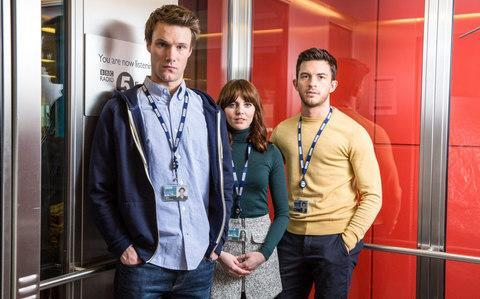 <span>Hugh Skinner, Ophelia Lovibond and Jonathan Bailey</span> <span>Credit: BBC </span>