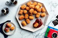 "Tots are fun for all ages. Cauliflower and carrot add sweet, earthy flavor to the format. <a href=""https://www.epicurious.com/recipes/food/views/cauliflower-carrot-cheesy-tots?mbid=synd_yahoo_rss"" rel=""nofollow noopener"" target=""_blank"" data-ylk=""slk:See recipe."" class=""link rapid-noclick-resp"">See recipe.</a>"