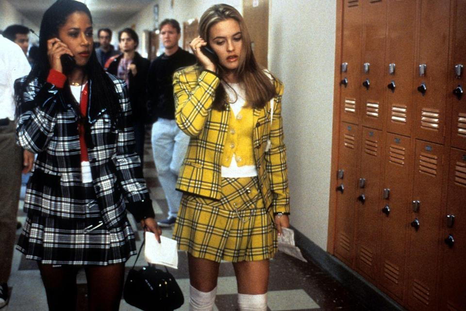 """<p>Thanks to fashion's ongoing '90s nostalgia, our favorite <em>Clueless </em>looks are extremely on trend this season. Whether you're more of a Cher or a Dionne, you can re-wear your checked skirt and blazer throughout the fall. </p><p><strong>Get the look: Tory Burch</strong> plaid blazer, $299, <a href=""""https://click.linksynergy.com/deeplink?id=6Km1lFswsiY&mid=43625&murl=https%3A%2F%2Fwww.toryburch.com%2Fen-us%2Fclothing%2Fjackets%2Fplaid-blazer%2F78953.html"""" rel=""""nofollow noopener"""" target=""""_blank"""" data-ylk=""""slk:toryburch.com"""" class=""""link rapid-noclick-resp"""">toryburch.com</a>.</p><p> <a class=""""link rapid-noclick-resp"""" href=""""https://click.linksynergy.com/deeplink?id=6Km1lFswsiY&mid=43625&murl=https%3A%2F%2Fwww.toryburch.com%2Fen-us%2Fclothing%2Fjackets%2Fplaid-blazer%2F78953.html"""" rel=""""nofollow noopener"""" target=""""_blank"""" data-ylk=""""slk:SHOP"""">SHOP</a> </p>"""