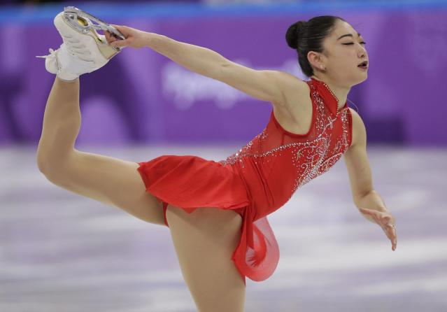 Mirai Nagasu is the first U.S. woman to land a triple axel at the Olympics. (Associated Press)