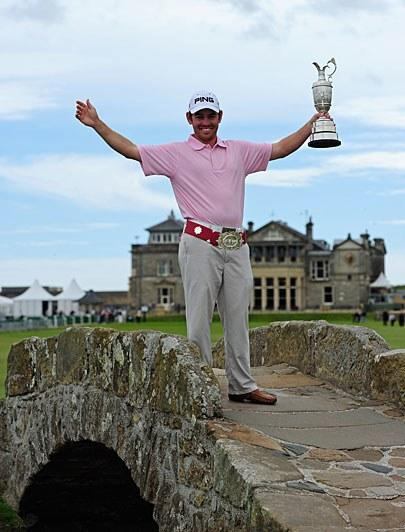 """The South African took advantage of a good weather draw early and never let up, winning by seven shots and forcing ESPN broadcasters to scramble to learn how to pronounce his name. Many turned to simply going by his nickname: """"Shrek."""" Ranked 54th in the world and with just one European Tour win coming in, the 27-year-old Oosthuizen led for the final 48 holes."""