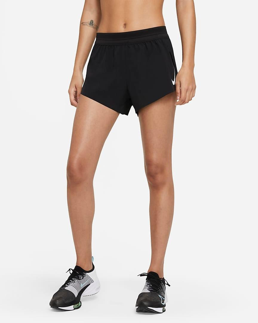 """""""These shorts are super lightweight, seamless, and soft to help prevent chafing—you'll barely feel them. The sweat-wicking technology and side slits provide incredible ventilation for running on a hot day."""" —<a href=""""https://www.instagram.com/florbeckmann/"""" rel=""""nofollow noopener"""" target=""""_blank"""" data-ylk=""""slk:Flor Beckmann"""" class=""""link rapid-noclick-resp"""">Flor Beckmann</a>, Nike master trainer $65, Nike. <a href=""""https://www.nike.com/t/aeroswift-womens-running-shorts-Wth5Zg/CZ9398-100"""" rel=""""nofollow noopener"""" target=""""_blank"""" data-ylk=""""slk:Get it now!"""" class=""""link rapid-noclick-resp"""">Get it now!</a>"""