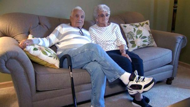 PHOTO: In this screen grab taken from a video, Steve and Marie Orlando celebrate their 70th wedding anniversary. (WTAE)