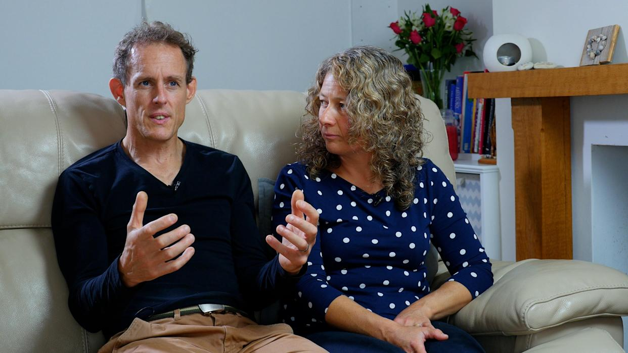 Nigel Row, 48, and his wife Sally, 46, have launched legal action. (Christian Concern)