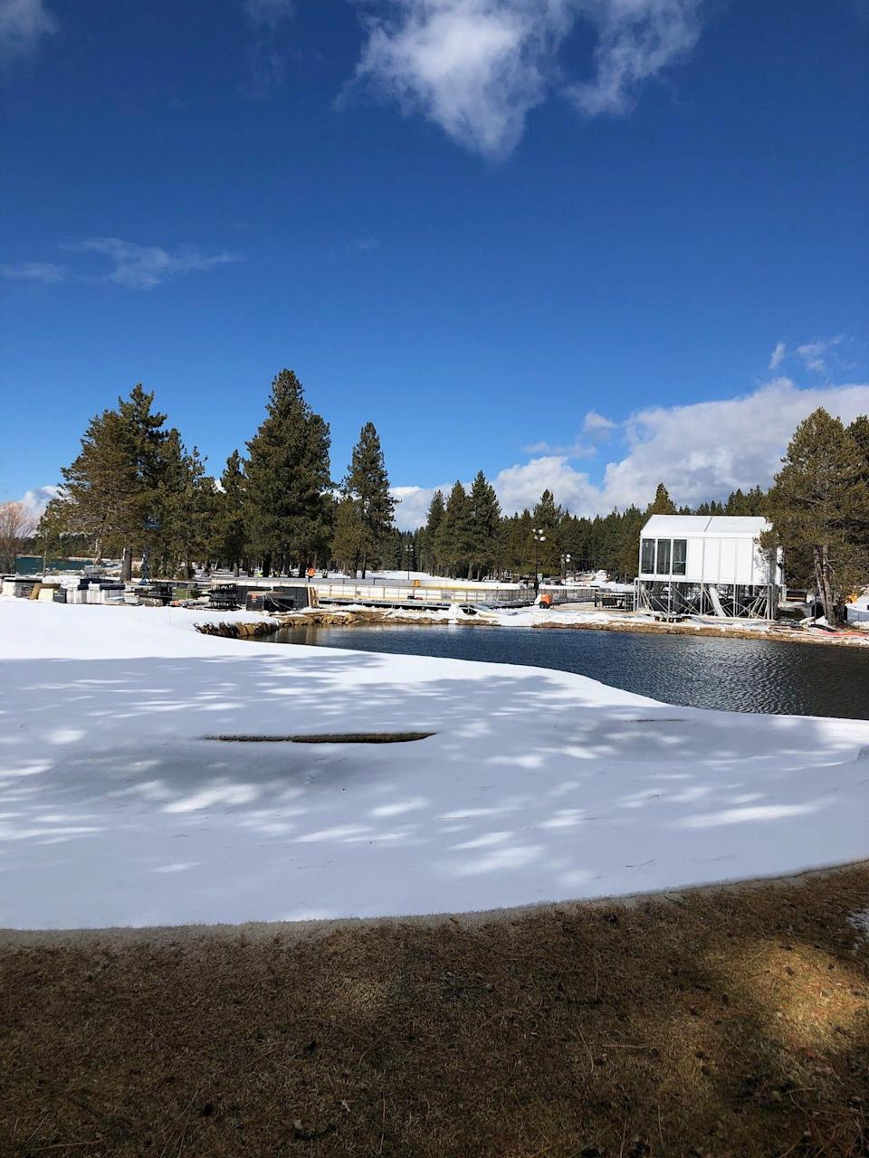 After a snow-filled winter, the golf course normally opens in early May, grounds director Brad Wunderlich said.