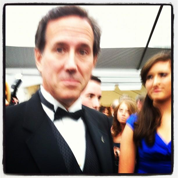 Former presidential candidate Rick Santorum enters Yahoo/ABC party. #WHCD