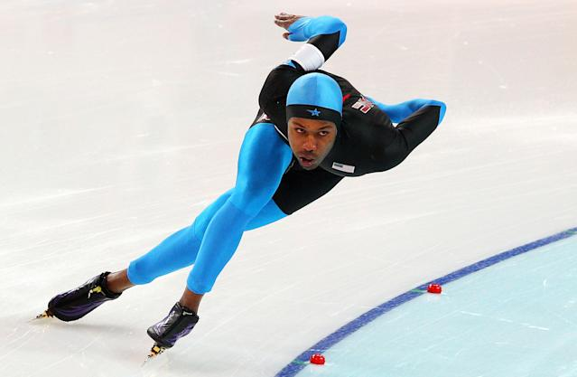 <p>Davis was the first African American athlete to win an individual Olympic gold medal, taking first in the speedskating 1000 meter event at the 2006 Turin games. He added another gold to his collection in 2010 as well as two silvers in the 1500 meter race. </p>