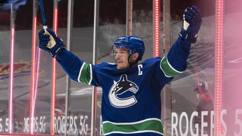 Bo Horvat orchestrated the most memorable moment of the Canucks' season. (Photo by Rich Lam/Getty Images)