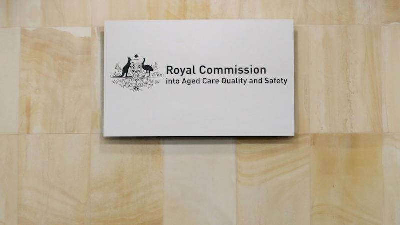 The aged care royal commission is taking evidence from elderly people via videolink due to COVID-19