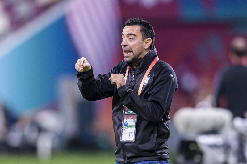 DOHA, QATAR - DECEMBER 17: Al-Sadd Head Coach Xavier Hernandez gestures during the FIFA Club World Cup 5th place match between Al-Sadd Sports Club and Esperance Sportive de Tunis at Khalifa International Stadium on December 17, 2019 in Doha, Qatar. (Photo by Marcio Machado/Eurasia Sport Images/Getty Images)