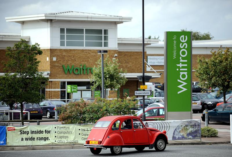General view of a Waitrose store in Harrow, Middlesex.