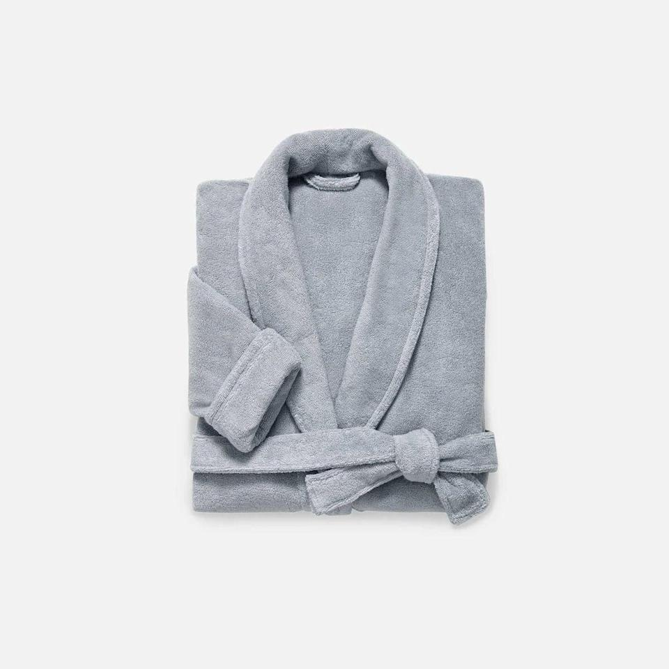 """<p><strong>Brooklinen</strong></p><p>https://www.brooklinen.com/</p><p><a href=""""https://go.redirectingat.com?id=74968X1596630&url=https%3A%2F%2Fwww.brooklinen.com%2Fcollections%2Faccessories%2Fproducts%2Fsuper-plush-robe%3Fvariant%3D32886878306394&sref=https%3A%2F%2Fwww.bestproducts.com%2Fhome%2Fg36230872%2Fbrooklinen-birthday-sale-april-2021%2F"""" rel=""""nofollow noopener"""" target=""""_blank"""" data-ylk=""""slk:Shop Now"""" class=""""link rapid-noclick-resp"""">Shop Now</a></p><p><strong>Sale Price: $78.40</strong></p><p>Brooklinen's Super-Plush Robe is beloved <a href=""""https://www.bestproducts.com/lifestyle/a31249897/brooklinen-super-plush-robe-review/"""" rel=""""nofollow noopener"""" target=""""_blank"""" data-ylk=""""slk:by comfort enthusiasts"""" class=""""link rapid-noclick-resp"""">by comfort enthusiasts</a> for its pillowy, absorbent 380 GSM weight that doesn't have bear-hug heaviness. It comes in three sizes and three neutral hues.</p><p>Whether you're just slipping it on pre- and post-shower or it's your unofficial Sunday morning uniform, it'll make you feel like you're somewhere very posh.</p>"""