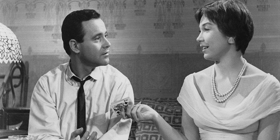 "<p>To climb the corporate ladder, a man loans out his apartment to colleagues looking for a little afternoon delight. Director Billy Wilder's legendary romantic comedy, starring Jack Lemmon and Shirley MacLaine, features some of the wittiest banter ever spouted onscreen. <a class=""link rapid-noclick-resp"" href=""https://www.amazon.com/dp/B004AUFVU0?tag=syn-yahoo-20&ascsubtag=%5Bartid%7C10056.g.6498%5Bsrc%7Cyahoo-us"" rel=""nofollow noopener"" target=""_blank"" data-ylk=""slk:Watch Now"">Watch Now</a></p>"