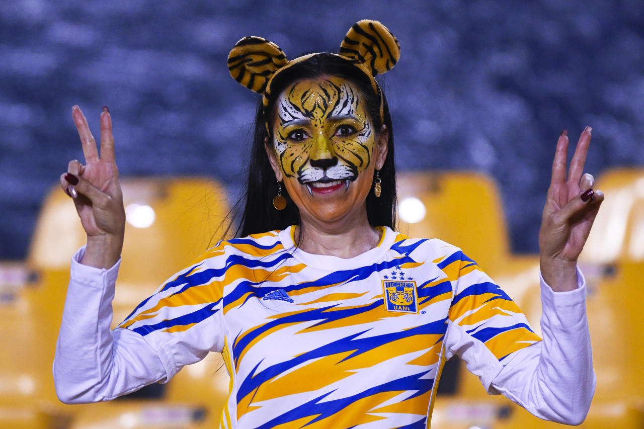Fan de Tigres a minutos de iniciar el partido. (Photo by Andrea Jimenez/Jam Media/Getty Images)