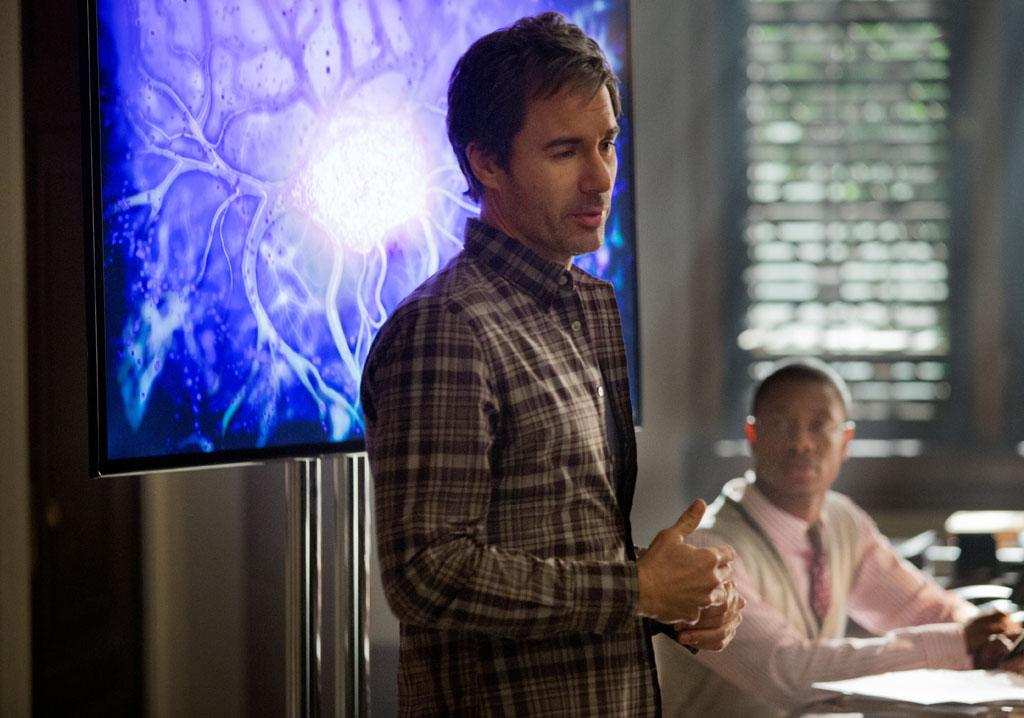 "Eric McCormack and Arjay Smith in the ""Perception"" episode, ""Alienation."""